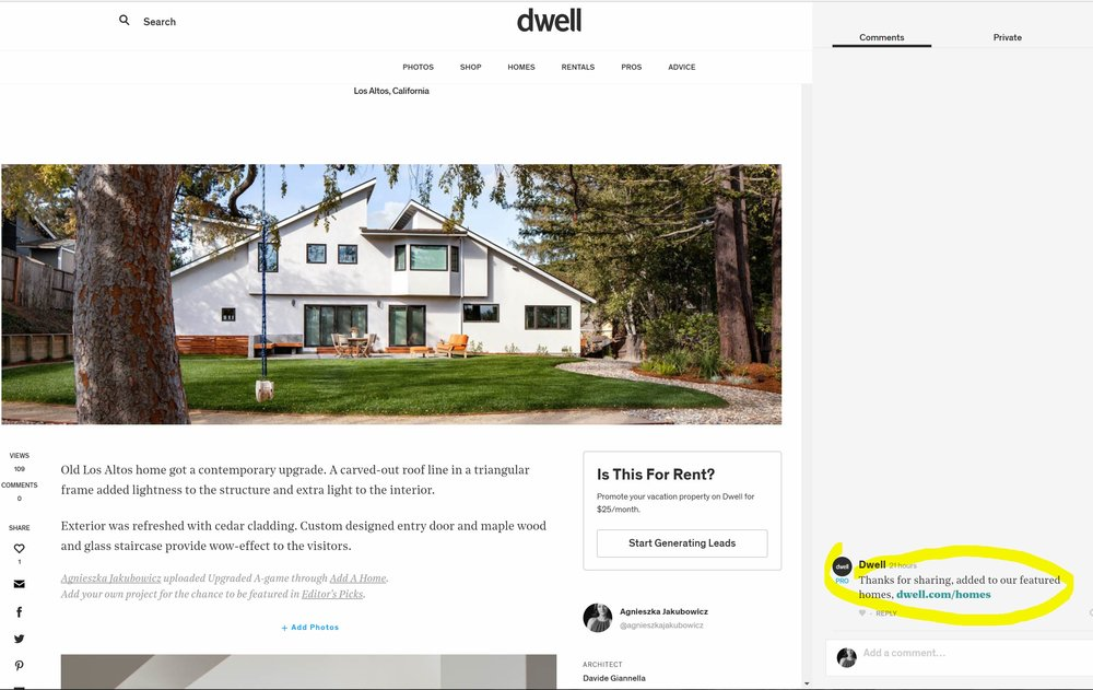 Great news from Dwell editors!
