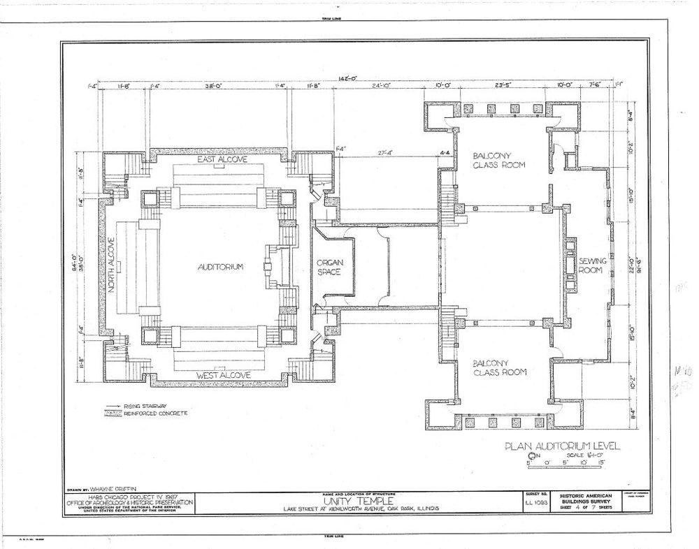 Frank Lloyd Wright: Unity Temple, Oak Park, IL