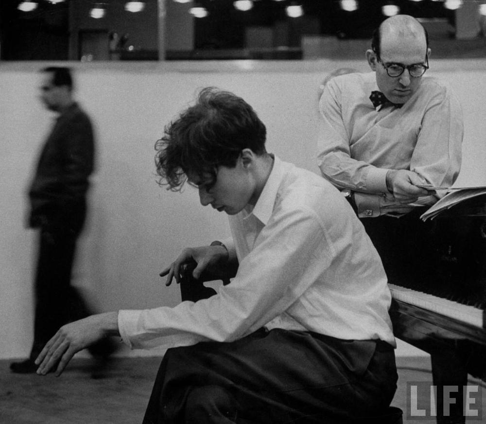 Glenn Gould recording the Goldberg Variations, 1955