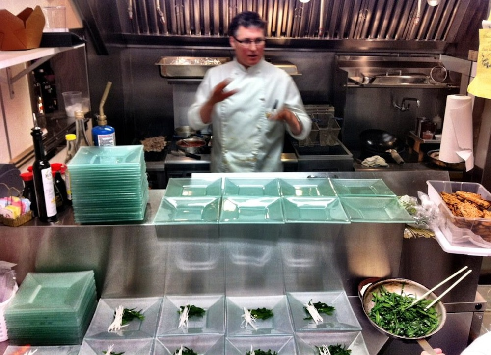 Chef Christopher Davis-Murai prepares a New Year's Eve pop-up dinner in Sacramento