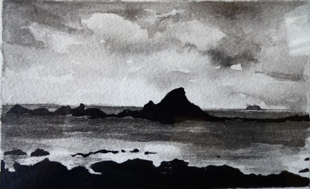 Works in Indian Ink, 2014.