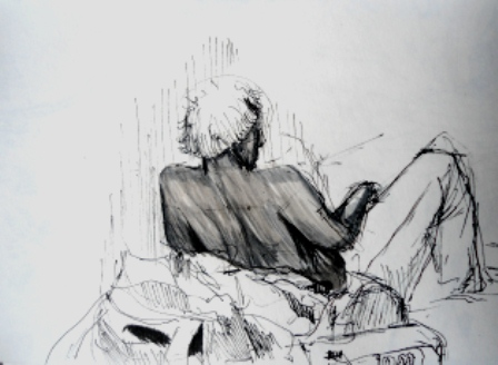 Sketch from the final Big Draw event of 2012 at St. Patrick's Square.