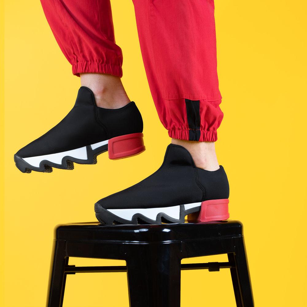 Black & Red Neoprene Sneaker-2.jpg