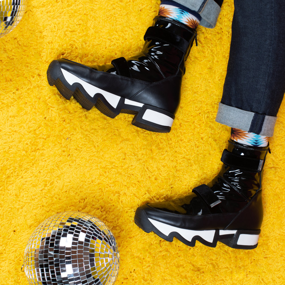 Black Leather Sock Sneaker-1.jpg