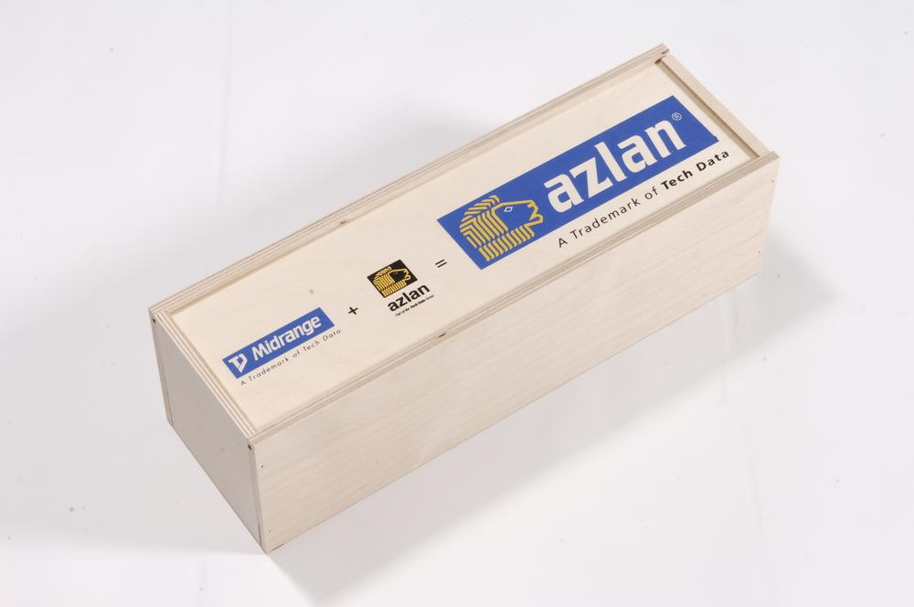 Holzkassette mit Siebdruck