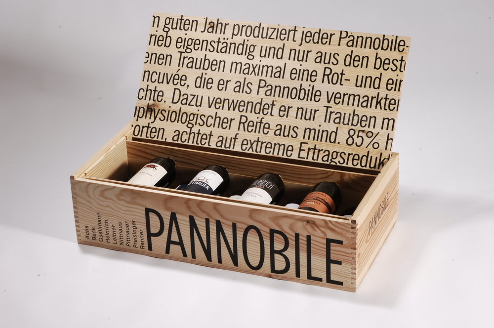 Weinkiste mit Displaydeckel für 9 Flaschen