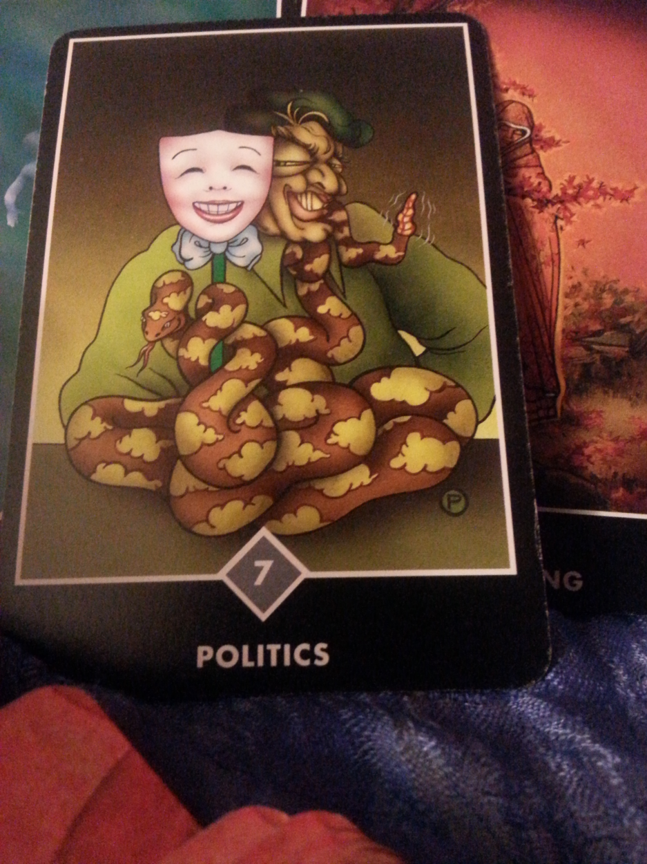 JULY 18-24 TH 2015: THEME OF THE WEEK Why learn to flow with change and stay aware of your power to choose? So we can better deal with and see though the masks... politics are a part of this world, better to face it then ignore it