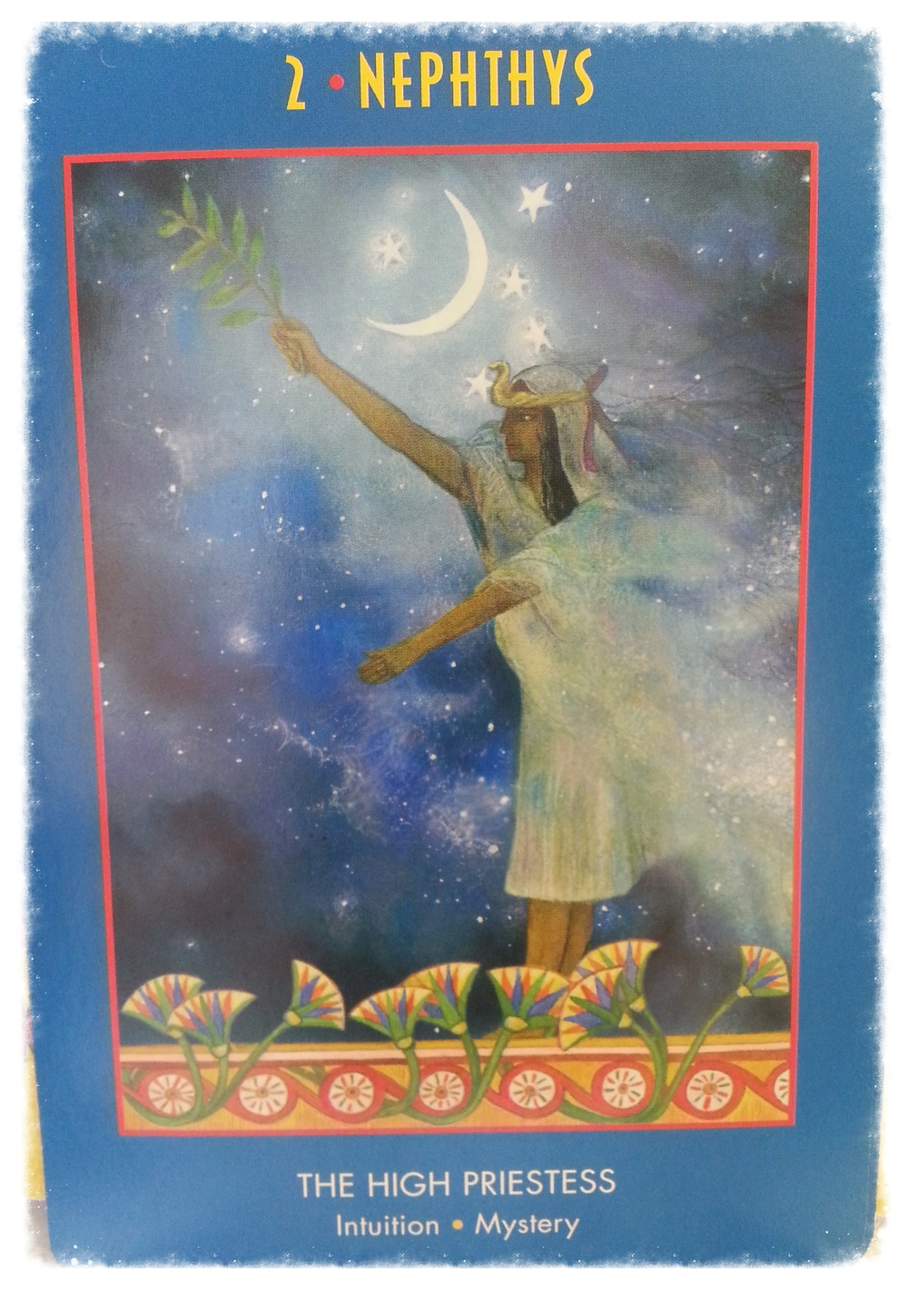 SATURN'S DAY AUGUST 22 2015   CARD 2- NEPHTHYS - THE HIGH PRIESTESS        INTUITION- MYSTERY