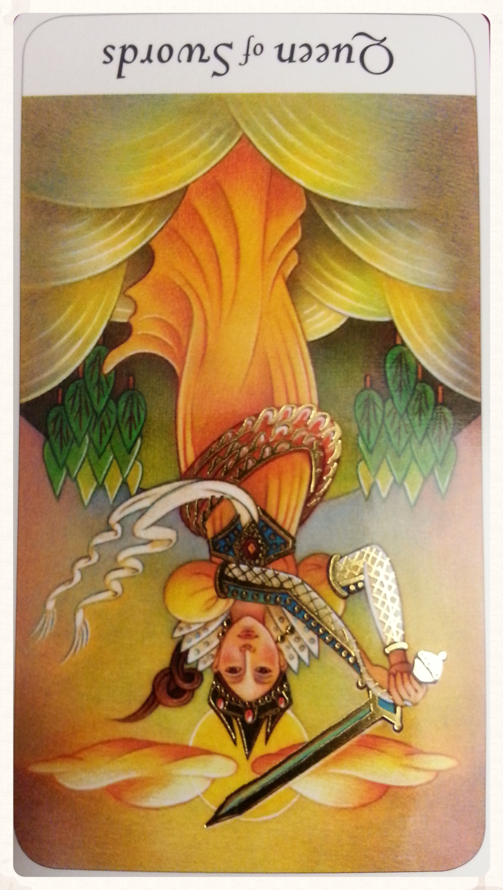 CARD FOR SUN-DAY AUGUST 30TH 2015:  QUEEN OF SWORDS-MINOR ARCANA              REVERSED