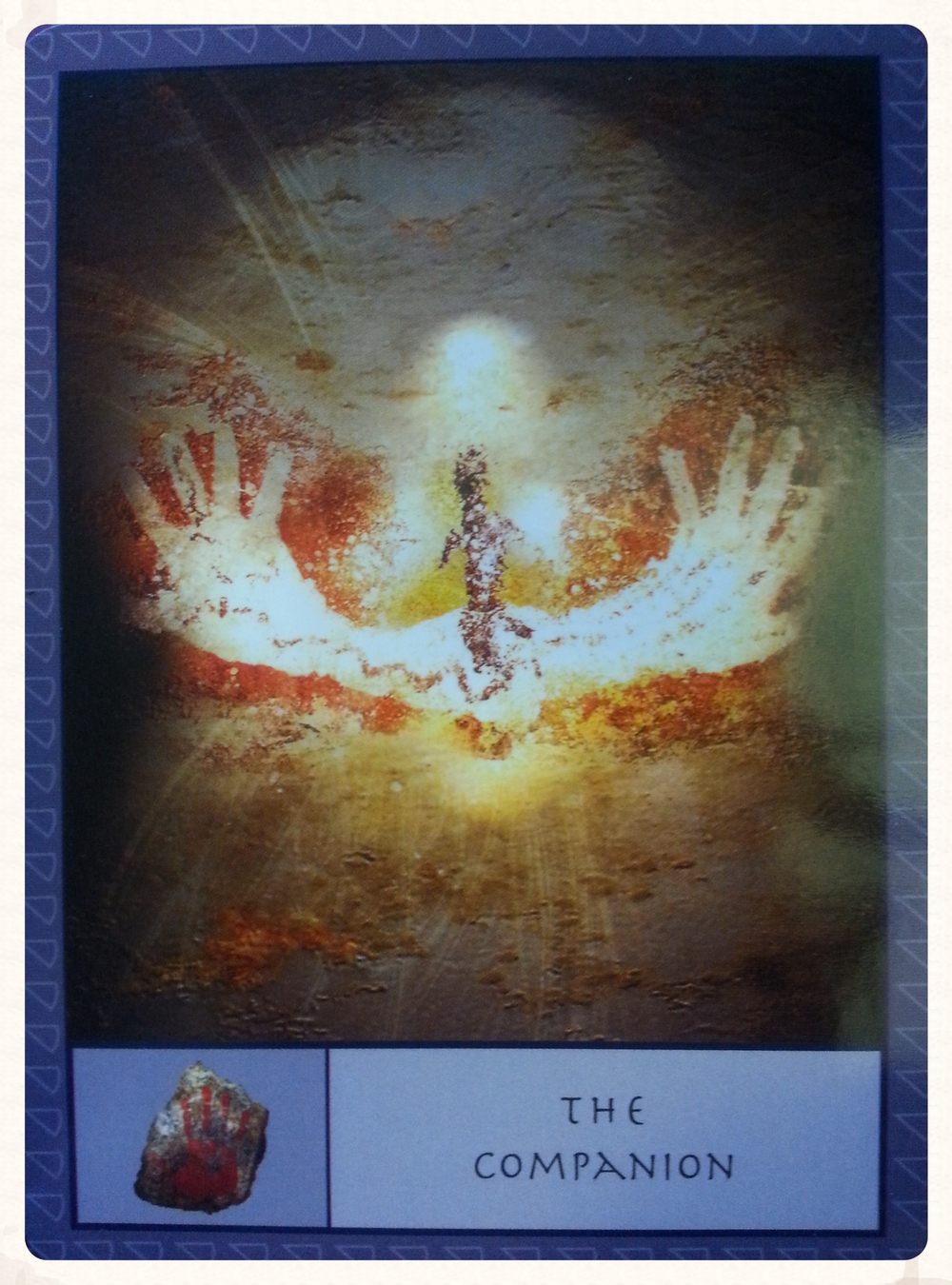 """""""THE COMPANION CARD ACTS AS A THE SEEKER'S SUPPORTIVE INNER GUIDE. IT'S ASSOCIATED IMAGE IS A HANDPRINT, SYMBOLIZING THE CONNECTION BETWEEN THE COMPANION AND THE SEEKER."""" - p. 8 from the Guidebook"""