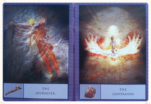 """""""THE INTERACTIVE CARDS ACTS AS A DIRECT INTERFACE BETWEEN THE SEEKER AND THE ORACULAR ENERGIES OF THE DECK""""- p.8 form the Guidebook"""