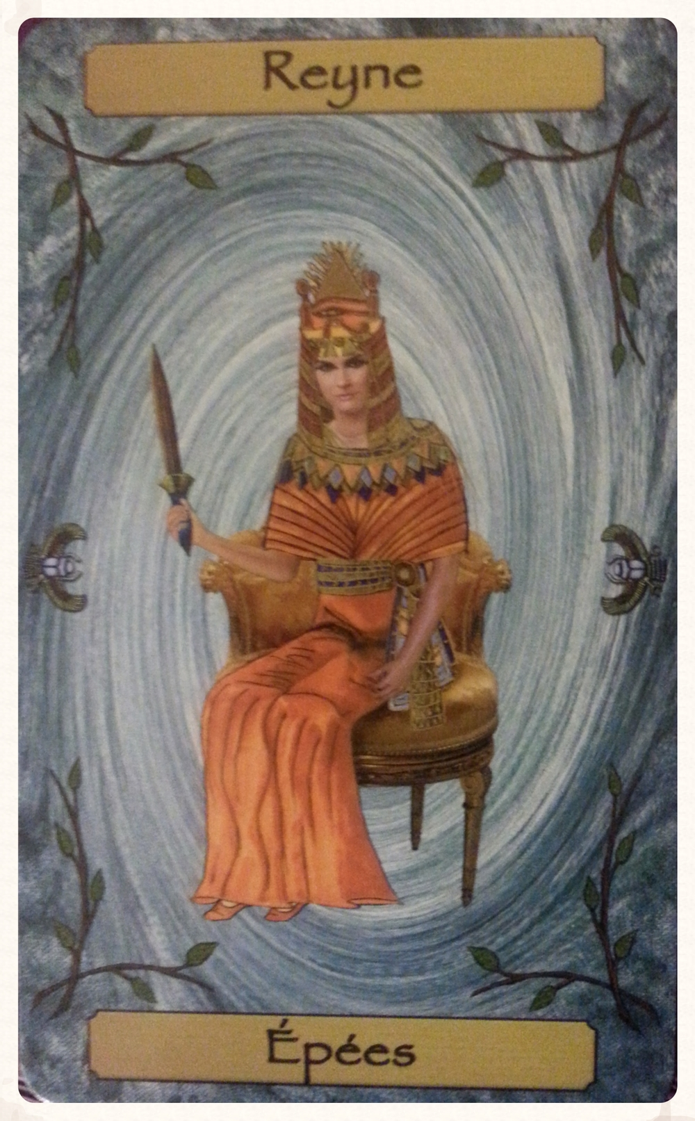 CARD FOR THE THEME OF THE WEEK           SEPTEMBER 12TH-18TH 2015     REYNE D'EPEE/ QUEEN OF SWORDS
