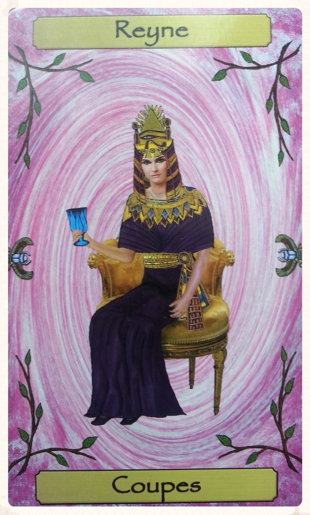 CARD OF THE DAY: -MINOR ARCANA   TYR'S-DAY SEPTEMBER 15TH 2015 REYNE DES COUPES/ QUEEN OF CUPS