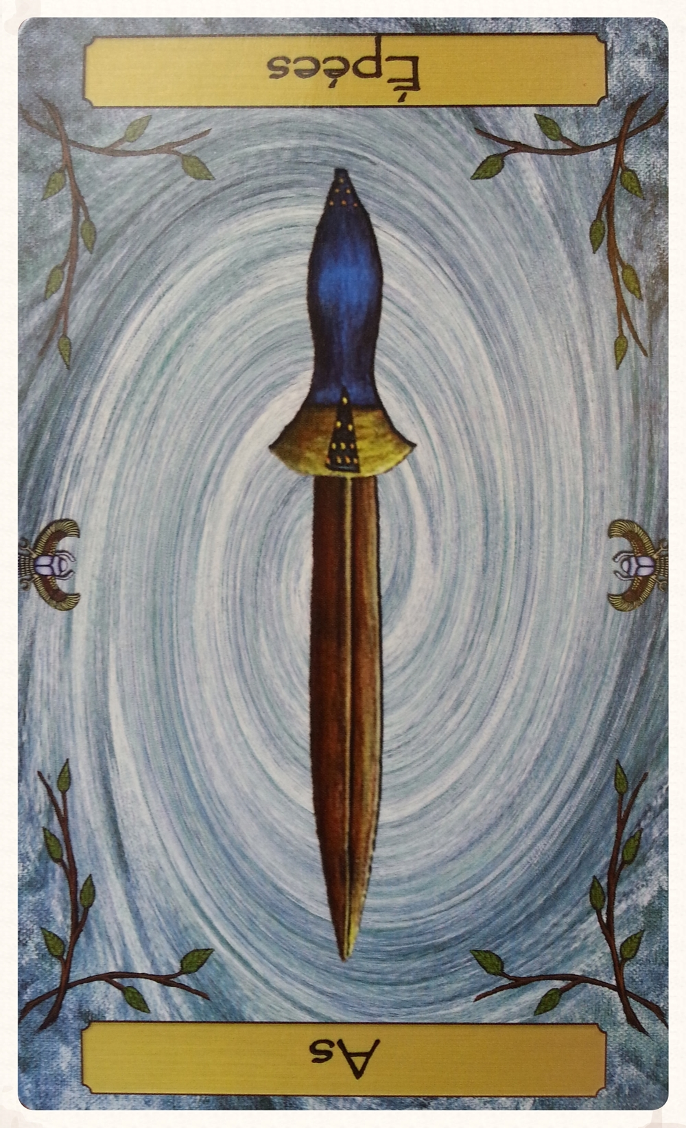 CARD OF THE DAY: -MINOR ARCANA   ODIN'S-DAY SEPTEMBER 16TH 2015 ACE OF SWORDS/ AS D'EPEES- RESERVED