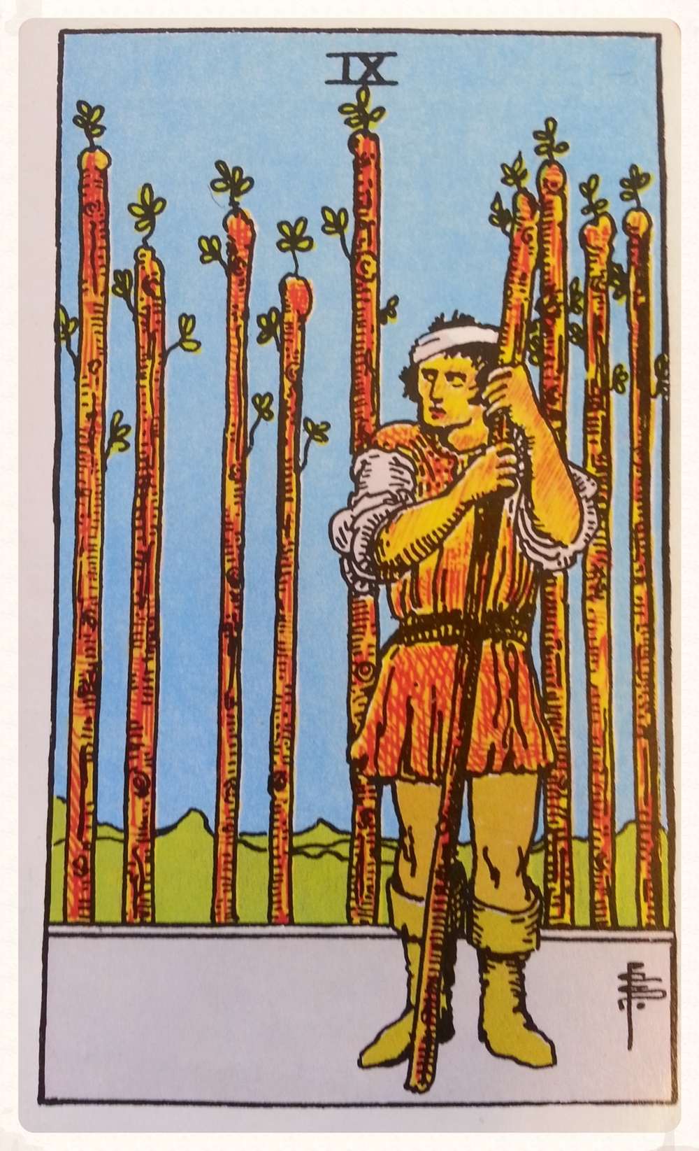 SATURN'S DAY OCTOBER 3RD 2015- MINOR ARCANA- NINE OF WANDS