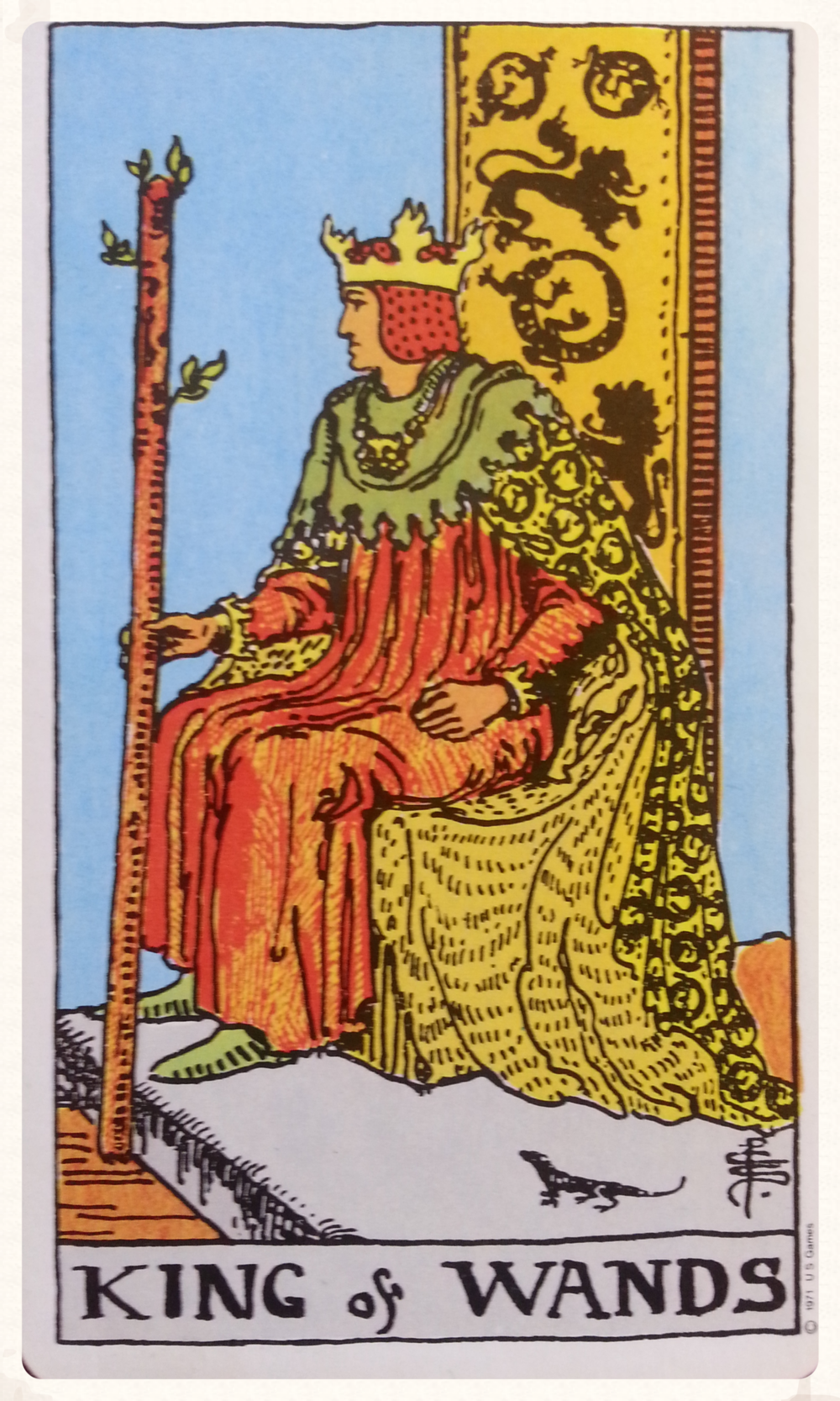 MOON-DAY OCTOBER 5TH 2015- MINOR ARCANA- KING OF WANDS
