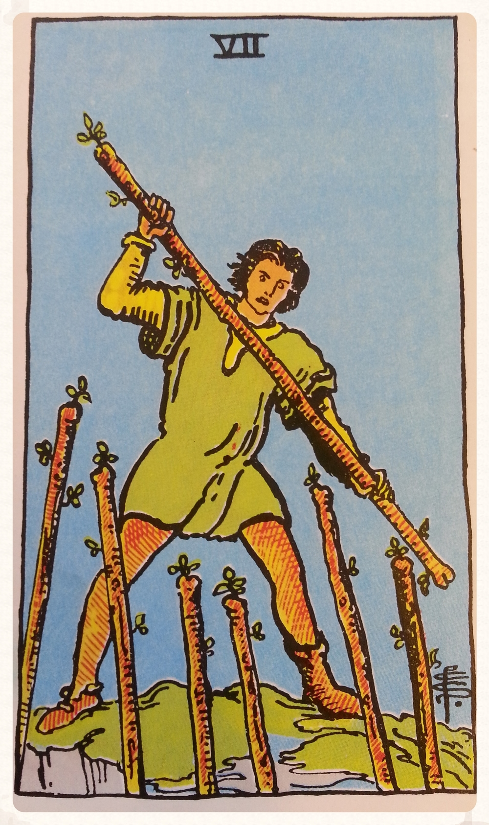 ODINS-DAY OCTOBER 7TH 2015- MINOR ARCANA- SEVEN OF WANDS