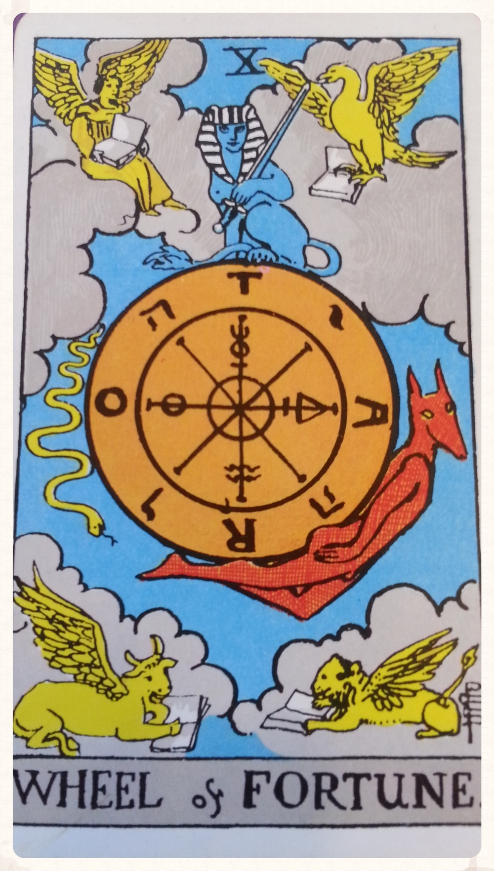 THOR'S DAY OCTOBER 8TH 2015- CARD 10-MAJOR ARCANA- WHEEL OF FORTUNE