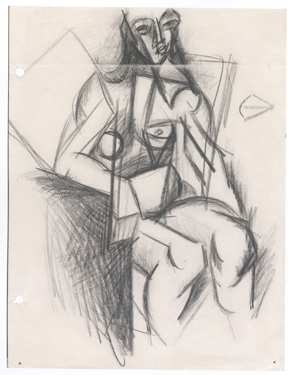 Arshile Gorky  Untitled  1935 Pencil on paper 11 x 8 in. (27.9 x 20.3 cm.)