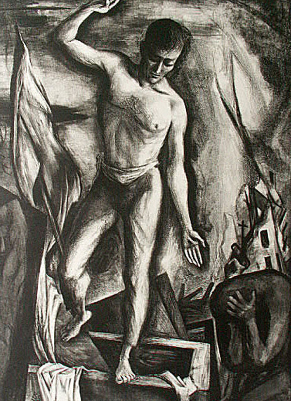 Benton Spruance Resurrection 1944 Lithograph 18 3/4 x 13 1/4 in.