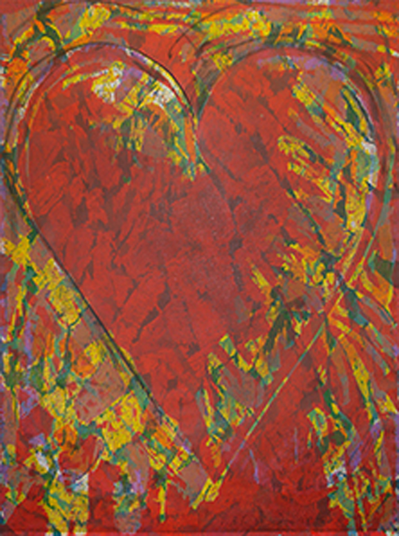 Jim Dine  The New Building  2013 Woodcut, etching with hand drawing. Edition of 30. 64 x 48 in. (162.6 x 121.9 cm.)