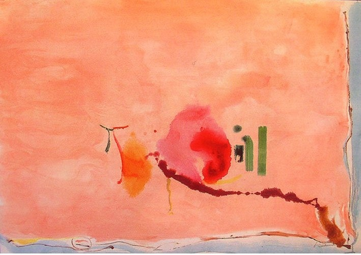 Helen Frankenthaler Flirt 2003 Prints and Multiples, 40-color screenprint Edition: 126 26.88 x 39.25 in. (68.3 x 99.7 cm.)