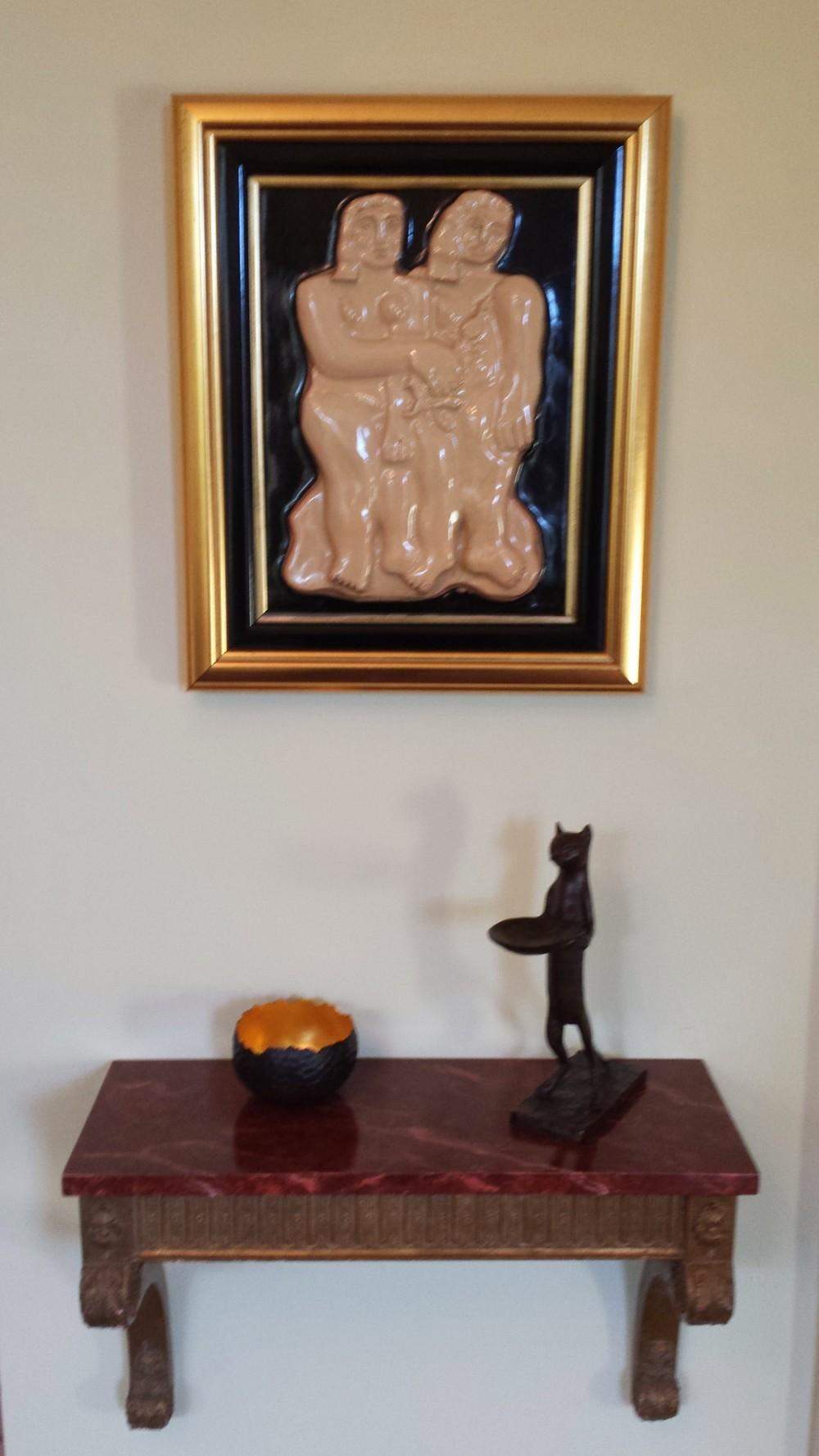 Fernand Léger Les Deux Soeurs c. 1920 Painted ceramic. 16 x 12 1/8 in.