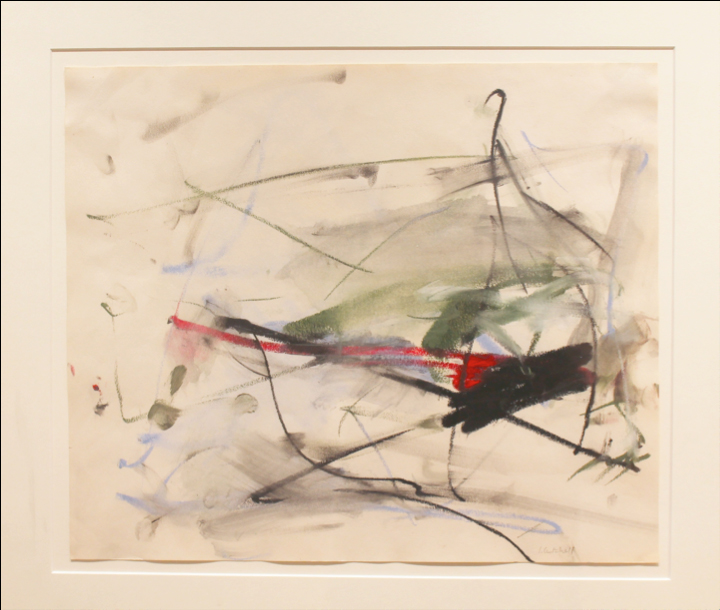 Joan Mitchell  Untitled  1959 Pastel, crayon, watercolor on paper. Signed in pencil. 13.75 x 16.75 in. (34.9 x 42.5 cm.)