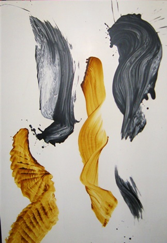 James Nares  'trane at 65  1991 Painting, oil. 56 x 47 in. (142.2 x 119.4 cm.)