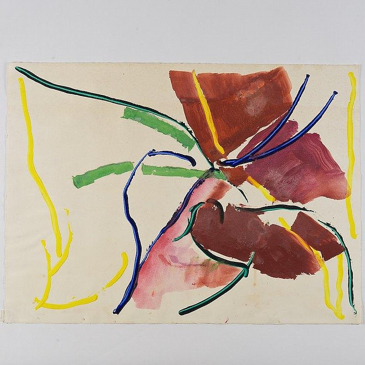 "Ray Parker    Untitled    1978   Oil on paper   Signed and dated ""RP 78"", in pencil on verso.   22 x 29.75 in."