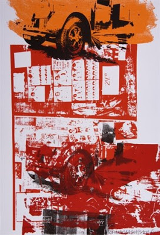 Robert Rauschenberg Read-Bleed 1983 Monoprint 29.9 x 21.5 in. (75.9 x 54.6 cm.)