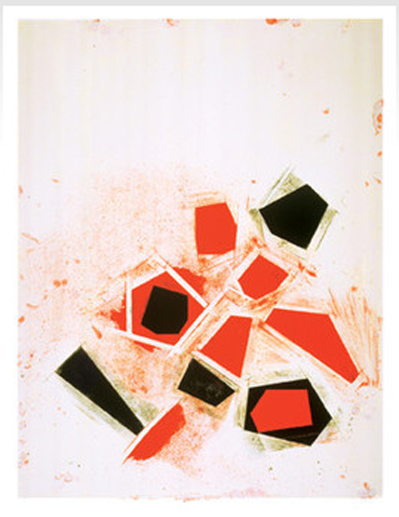 Joel Shapiro  Untitled  2006 Screen print on Reeves Textured. Rag paper. Edition of 118. 37 x 27.5 in. (94.0 x 69.9 cm.)