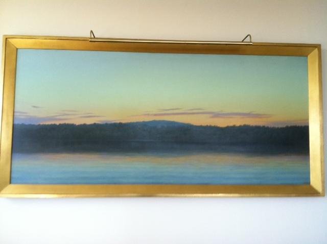 John Beerman  Sunset  1994 Oil on canvas 83 3/4 x 40 1/2 in.