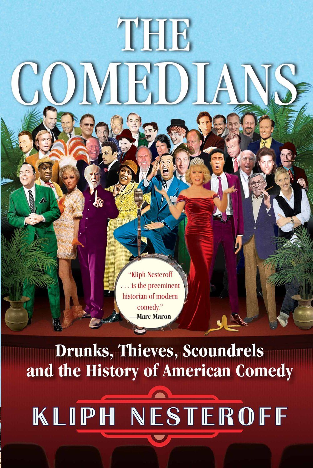 The Comedians, Kliph Nesteroff  - I think you'd enjoy this book even if you don't identify as comedian.Mr. Nesteroff produces a salient story of the history of American comedy from the Vaudeville days to radio, through the early nightclubs (think the Copacabana), to Las Vegas and to today.He merges firsthand interviews with historical sources and comes out with a story that, I hope, gives you an informed perspective on comedy's roots. That all sounds terribly dry. But it's not. It's entertaining! [Which I never thought I'd say about a history book.]