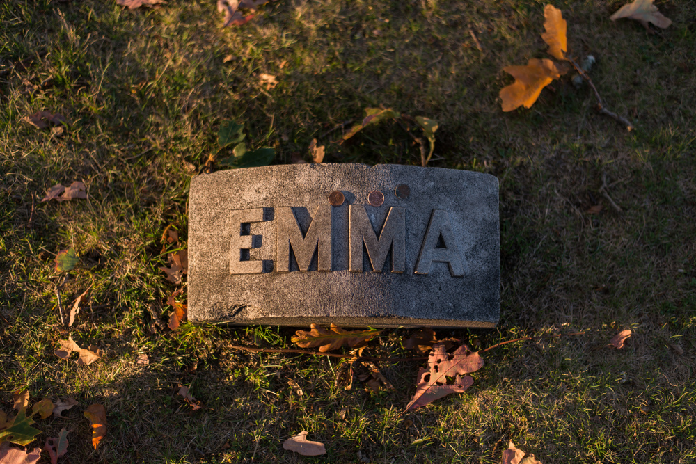 Emma   Borden Grave Marker