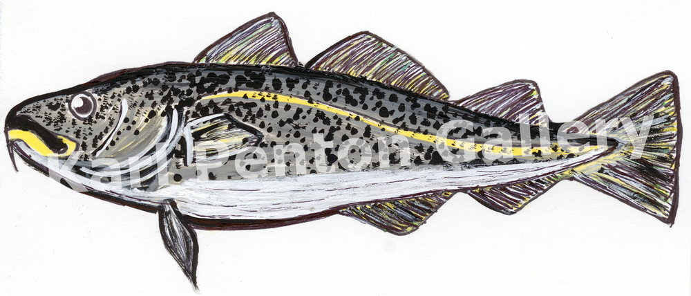 Atlantic Cod - This is the first piece Karl created when he began painting again. Representing the past but also the beginnings of something new.(Original In Private Collection)