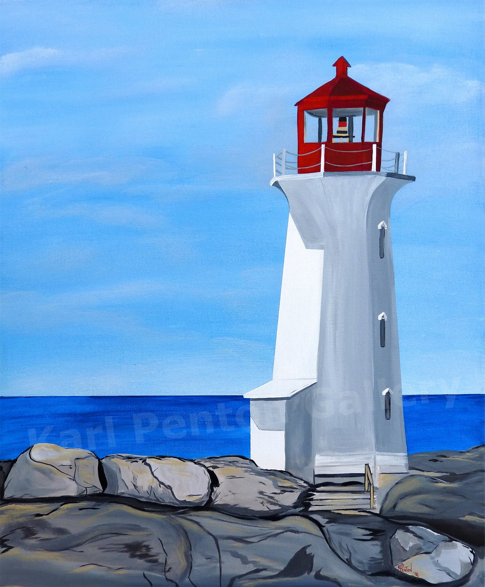 Peggy's Cove Lighthouse - (Original found in The Karl Penton Gallery)