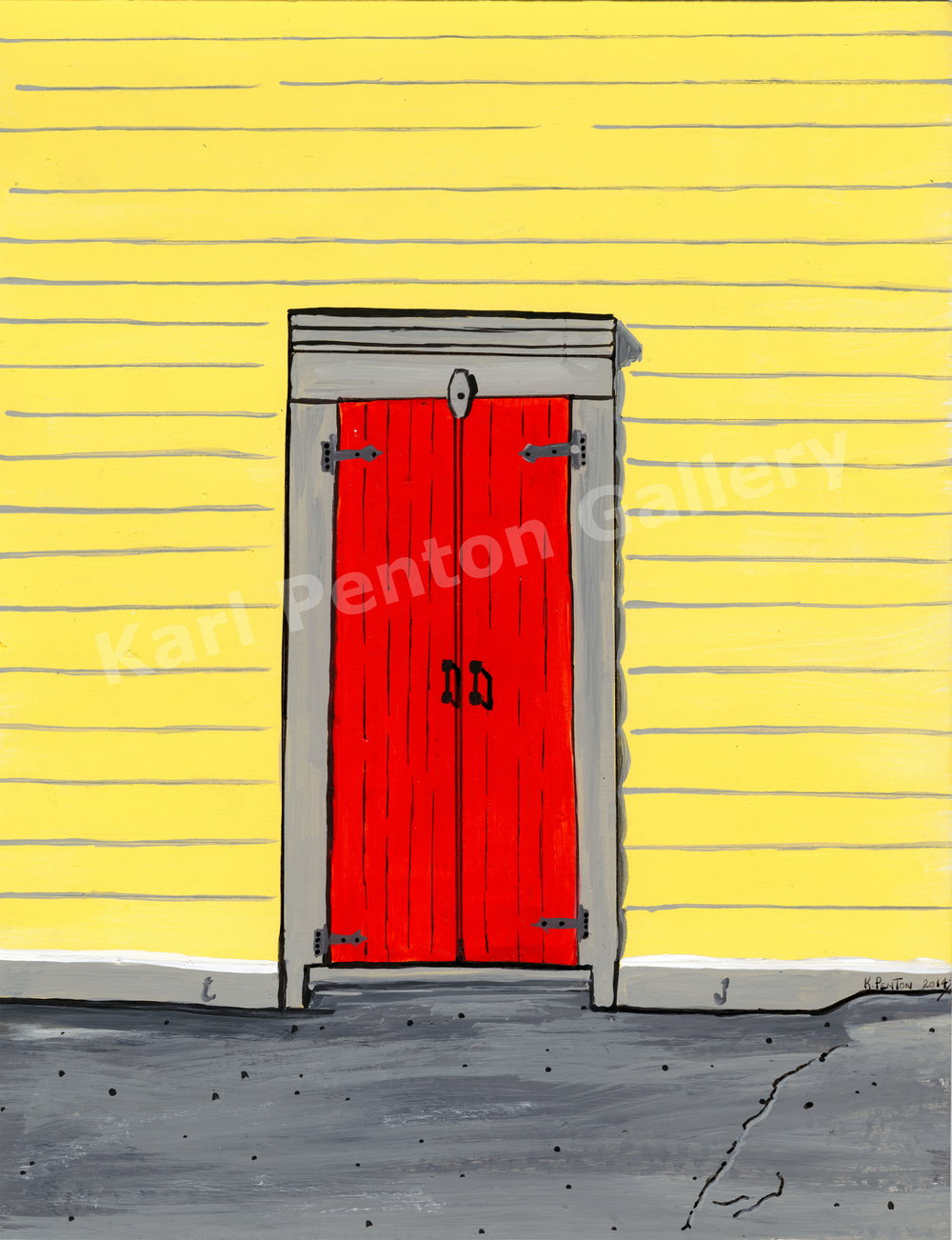 Red Door - On the same building and right next to