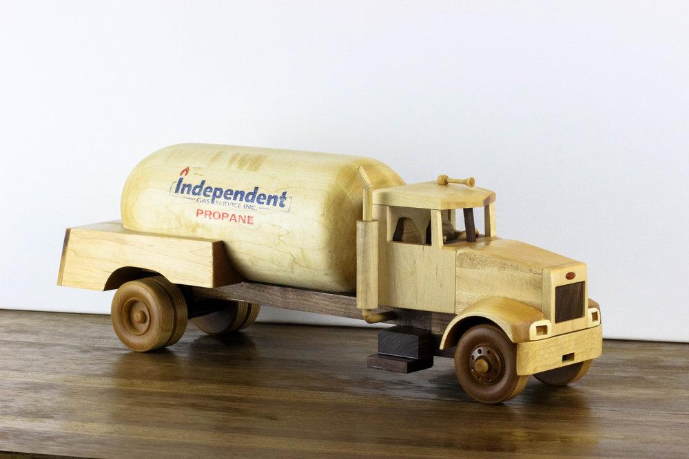 Custom propane truck built for operator.