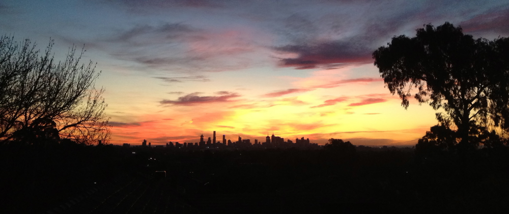Sunset over Melbourne in June