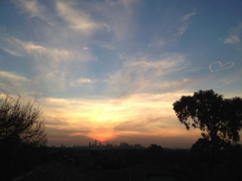 Heart Sunset Melbourne