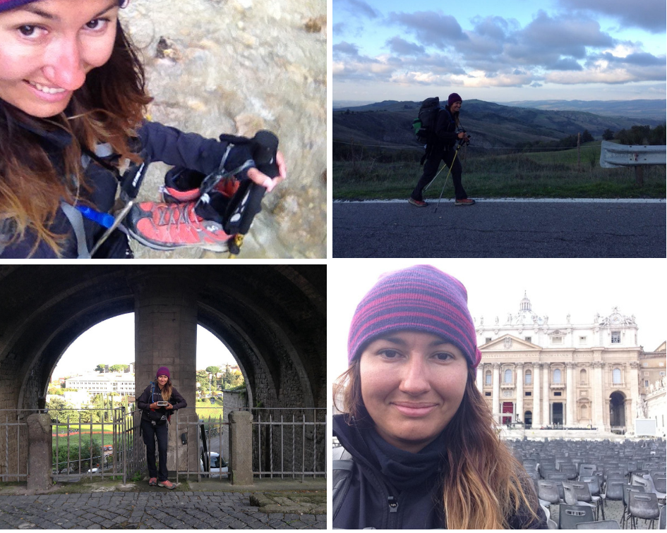 Kym Wilson Via Francigena collage