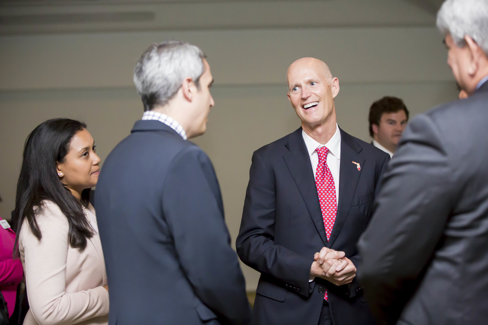 Governor Rick Scott.  © Karen Arango