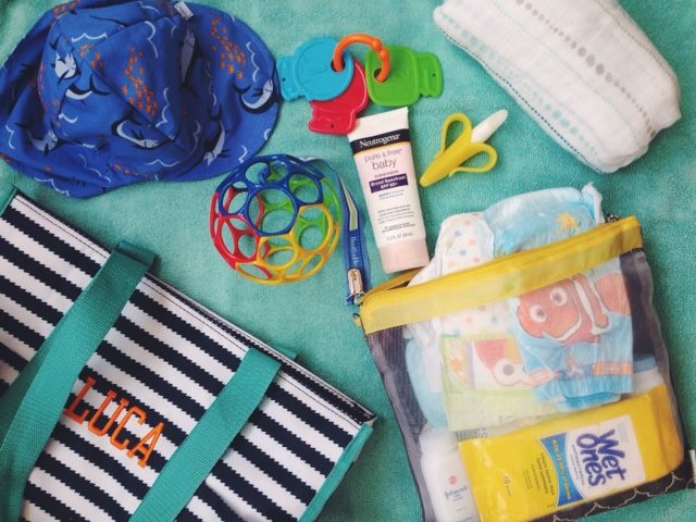 More on Luca's beach bag essentials at the bottom!