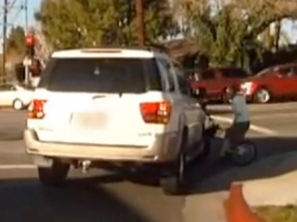 Hit and Run, SUV vs. girl on bike... Citizen Pursuit Follows