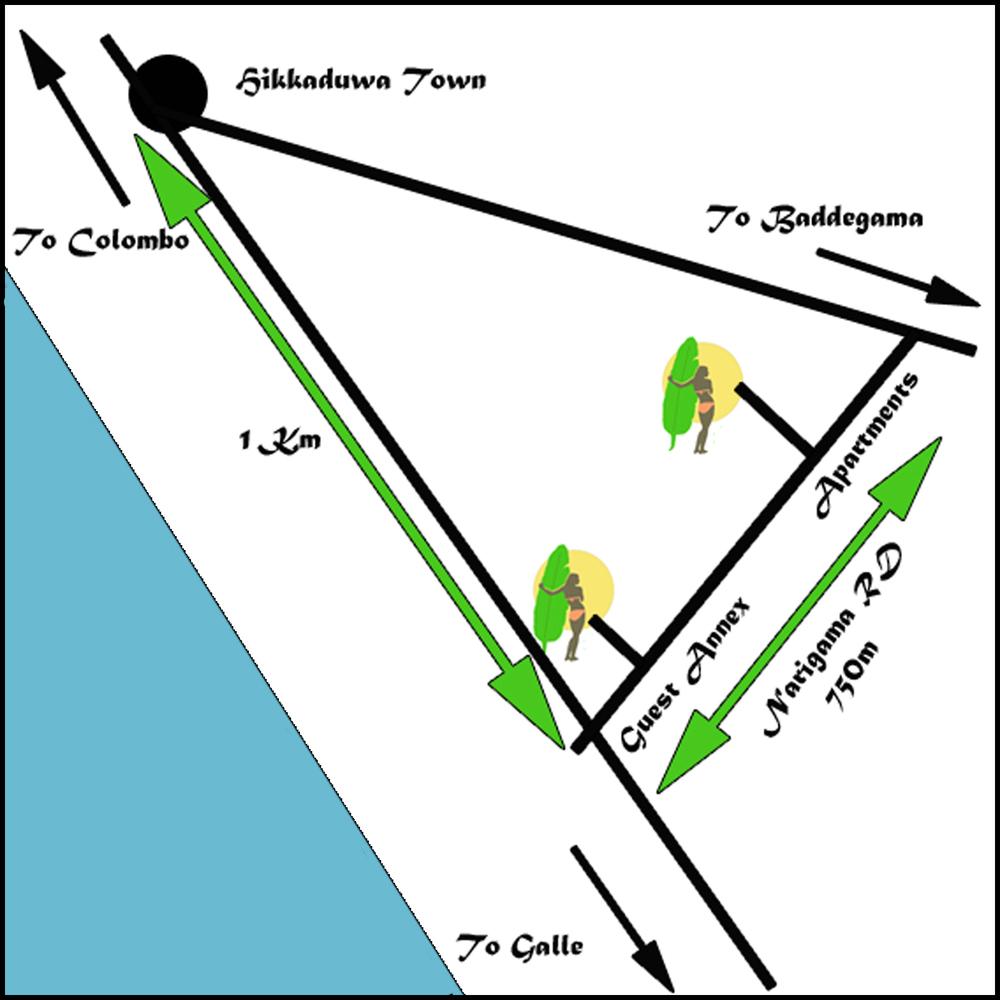 hikkaduwa map