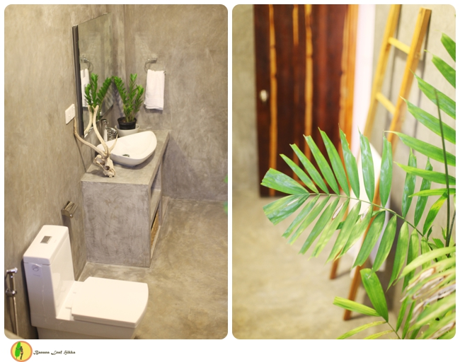 Banana Leaf apartments, concrete bathroom