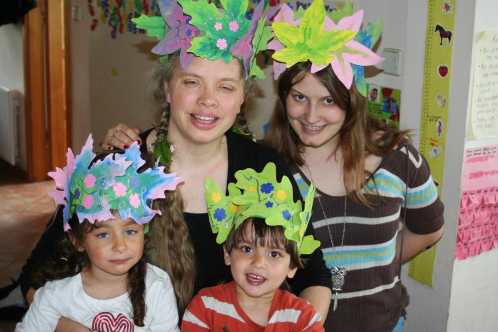 Leaf crowns for Beltane