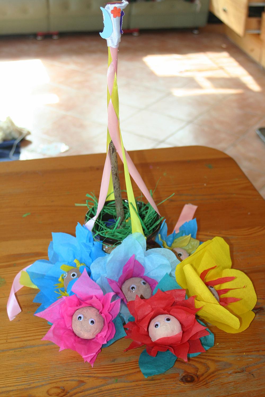 Flower babies and mini maypole