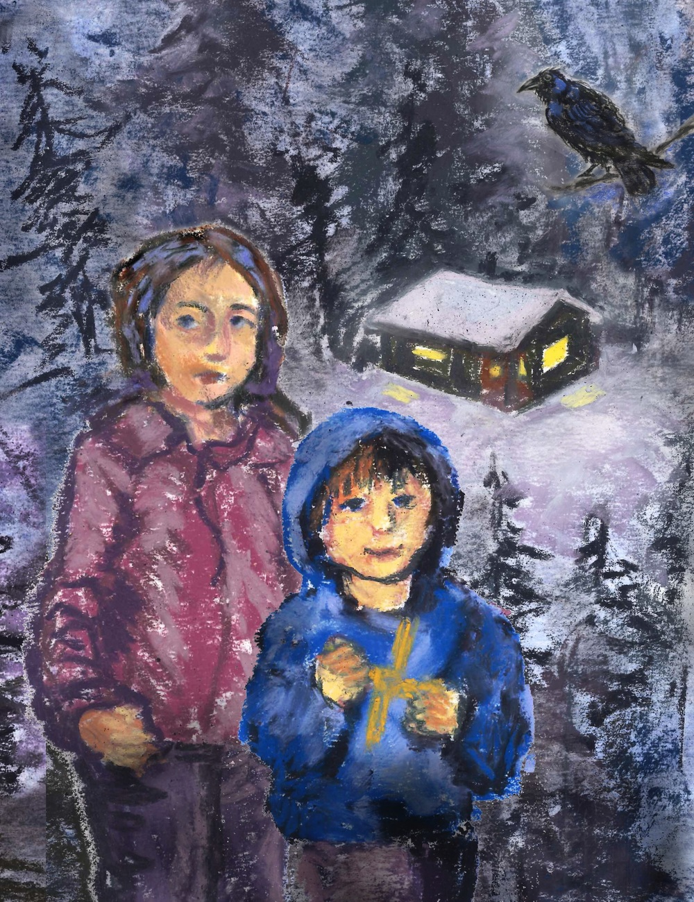 You want a Pagan children's story? Here are some of the beautiful illustrations by Julie Freel from the soon-to-be-published story  Shanna and the Raven . Ten-year-old Shanna and seven-year-old Rye learn to use the magic and energy of Imbolc for protection in a dicey situation.
